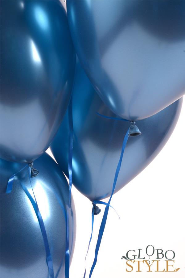 GloboStyle, detalle ramo de globos de helio azul